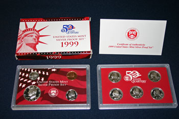1999 Silver Proof Set contents