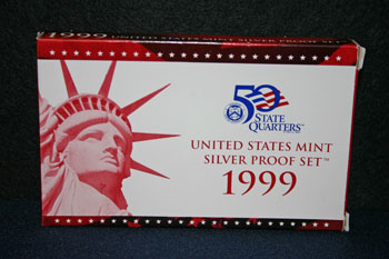 1999 Silver Proof Set outer box
