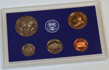 2000 Proof Set reverse images of regular proof coins
