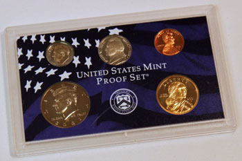 2001 Proof Set obverse images of regular proof coins