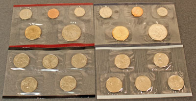 2001 Mint Set reverse images of uncirculated coins