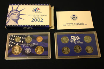2002 Proof Set package