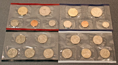 2003 Mint Set obverse view of uncirculated coins