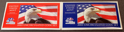 2003 Mint Set package of uncirculated coins