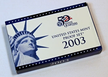 2003 Proof Set box with proof coins