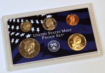 2003 Proof Set obverse images of regular proof coins