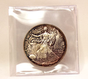 2003 Toned American Silver Eagle Coin