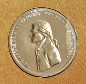 2004 Lewis and Clark replica peace medal obverse