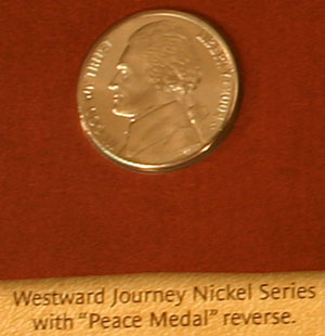 2004 Westward Journey peace medal nickel obverse