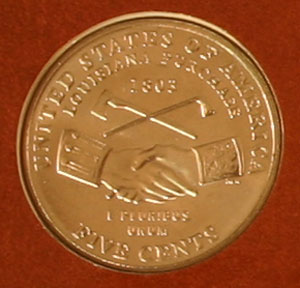 2004 Westward Journey peace medal nickel reverse