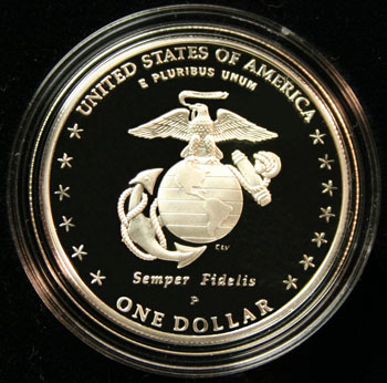2005 American Legacy Collection Proof Coins Set Marines reverse