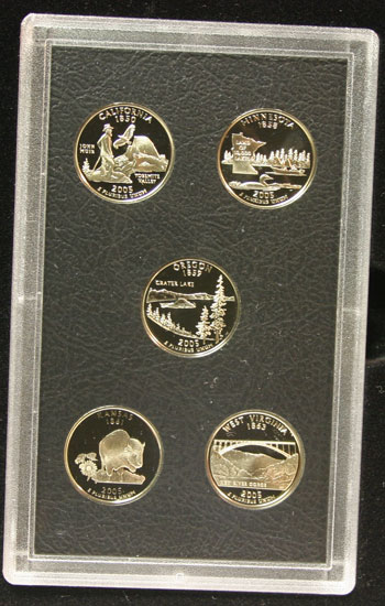 2005 American Legacy Collection Proof Coins Set state quarters reverse