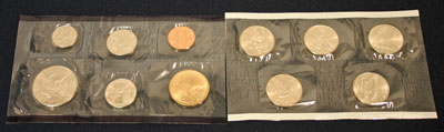2005 Mint Set reverse view of uncirculated coins minted in Philadelphia