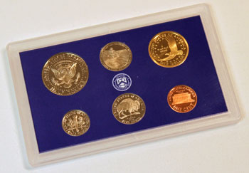 2005 Proof Set reverse images of regular proof coins