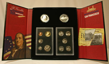 2006 American Legacy Collection Proof Coins Set package open