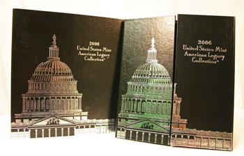2006 American Legacy Collection Proof Coins Set package standing