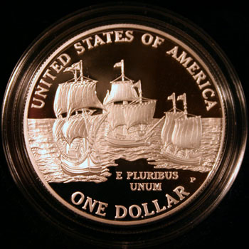 2007 American Legacy Collection Proof Coins Set Jamestown dollar reverse