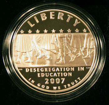 2007 American Legacy Collection Proof Coins Set Little Rock Desegregation dollar obverse