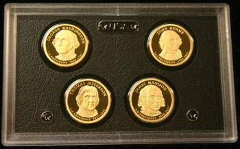 2007 American Legacy Collection Proof Coins Set presidential dollars obverse