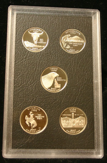 2007 American Legacy Collection Proof Coins Set state quarters reverse