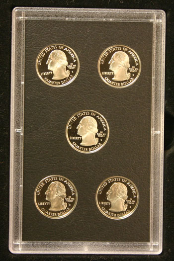 2008 American Legacy Proof Coins Set state quarters obverse