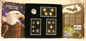 2008 American Legacy Proof Coins Set package open