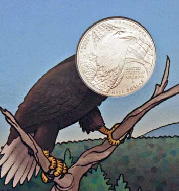 2008 Bald Eagle Young Collectors coin sets clad half dollar reverse