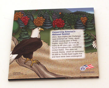 2008 Bald Eagle Young Collectors coin sets package contents back