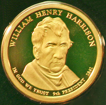 2009 Proof Set 9th Presidential Dollar William Henry Harrison