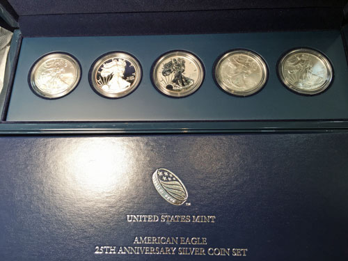 2011 American Eagle 25th Anniversary Silver Coin Set
