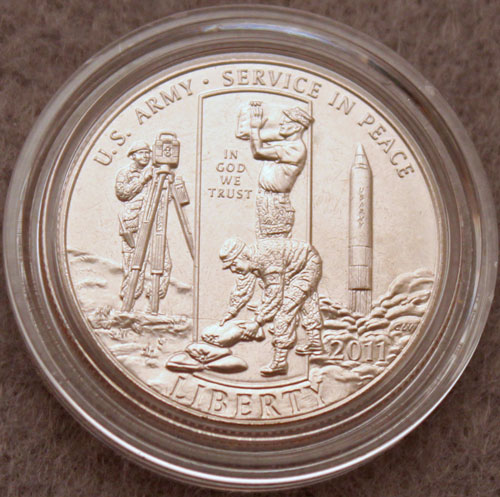 2011 US Army Commemorative Half Dollar uncirculated obverse