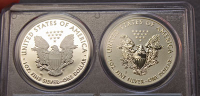 2012 American Eagle Silver coins reverse certified proof 70