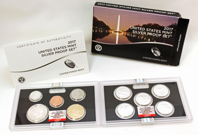 2017 Silver Proof Set First Day of Issue NGC certified