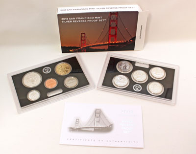 2018 Silver Reverse Proof Set 50th Anniversary of the San Francisco Mint