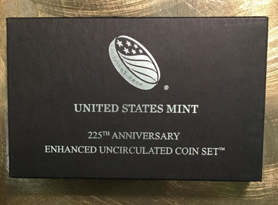 2017 225th Anniversary Enhanced Uncirculated Coin Set package
