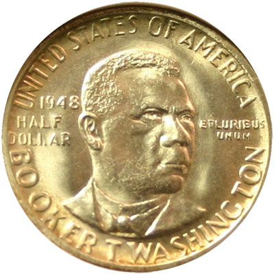 Booker T. Washington Memorial half dollar commemorative coin obverse