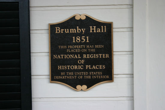 Brumby Hall historic plaque