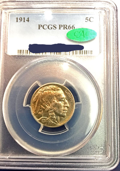 1914 Buffalo Indian Head Nickel PCGS PR-66