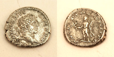 Ancient Roman Coin - Caracalla AR Denarius 198-217 AD