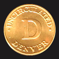 1986 Mint Set Denver token
