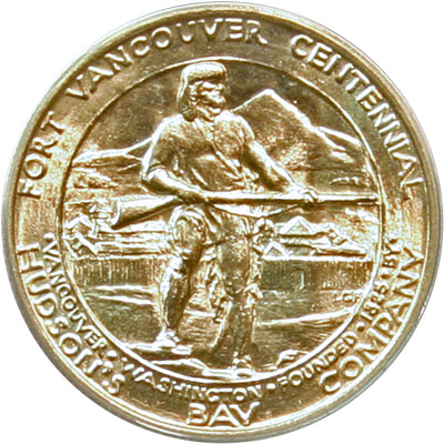 Fort Vancouver Half Dollar Reverse