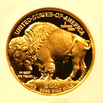2006 Gold Buffalo 50 Dollar Coin reverse