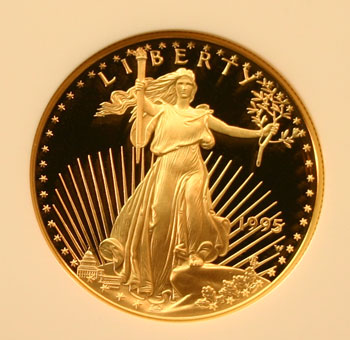 1995 Gold Eagle 50 Dollar Coin obverse