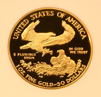 1995 Gold Eagle 50 Dollar Coin reverse