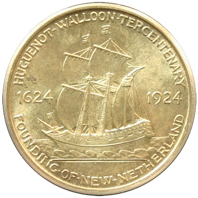 Huguenot-Walloon Tercentenary Half Dollar Coin reverse