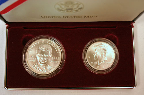 Kennedy Collector's Set obverse view of coins