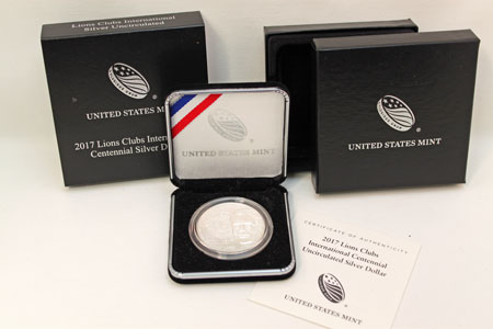 Lions Club 2017 Commemorative Silver Dollar Coin - uncirculated