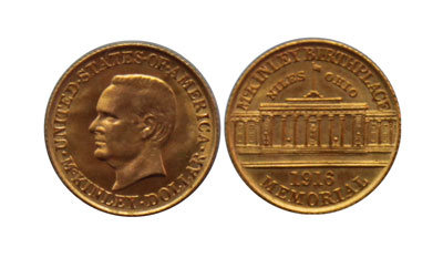 Classic Commemorative 1916 McKinley gold dollar coin
