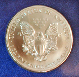 Millennium Coin and Currency American Eagle dollar reverse