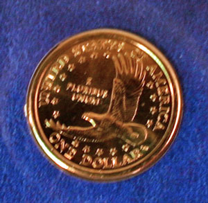 Millennium Coin and Currency Sacagawea dollar reverse